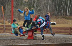 South Shore School children playing on playground
